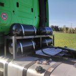 nakladni vozidlo s instalovaným zařízením dieselgas